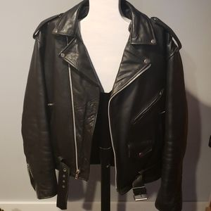 Xelement classic motorcycle biker jacket leather
